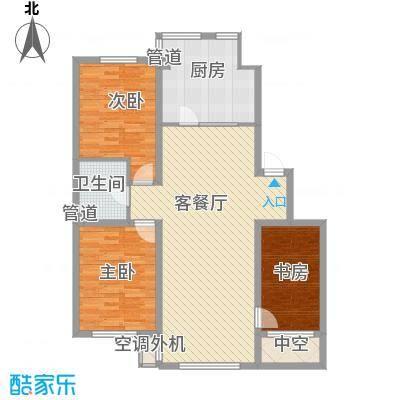 证大光明城110.00㎡三期7-12、15、16楼3C2户型3室2厅1卫