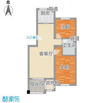 证大光明城83.00㎡二期小高层19号楼E户型3室2厅1卫1厨