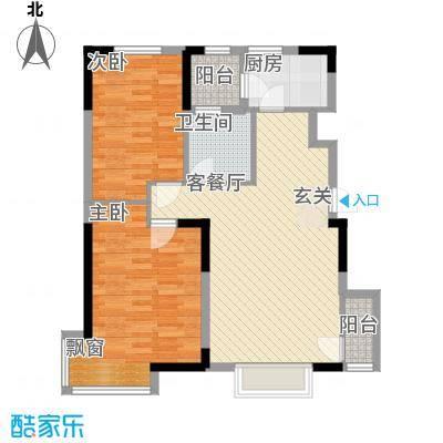 益田御水丹堤95.00㎡祥岸组团5、6号楼M1户型2室2厅1卫