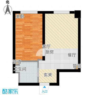筑业阳光经典62.93㎡阳光新贵G户型1室1厅1卫