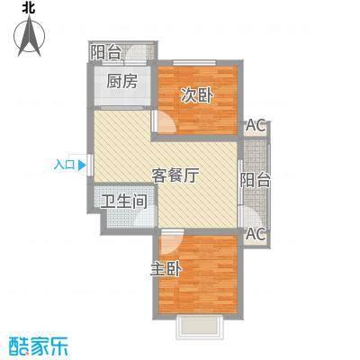 吴中印象82.08㎡1C户型2室2厅1卫