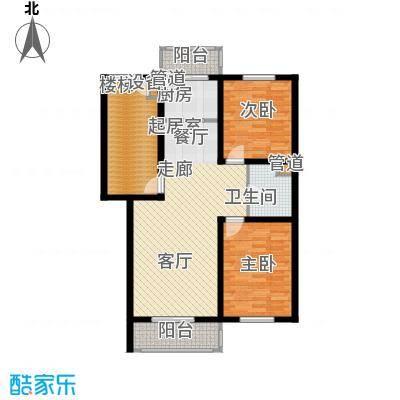 金美程家园94.42㎡F1a户型2室2厅1卫