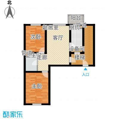 金美程家园73.90㎡D4户型2室1厅1卫