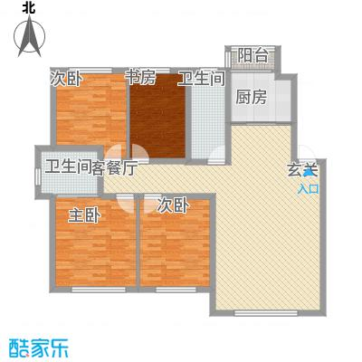 伟业星城136.50㎡伟业星城户型图三期中央街区户型图DA4室2厅2卫户型4室2厅2卫