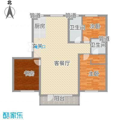 鑫港上上城142.47㎡鑫港上上城户型图B4户型图3室2厅2卫1厨户型3室2厅2卫1厨