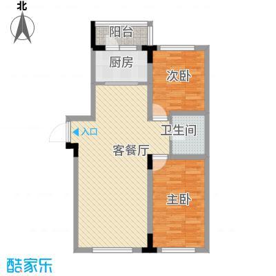 飞悦经典90.11㎡08高层户型图3户型2室2厅1卫