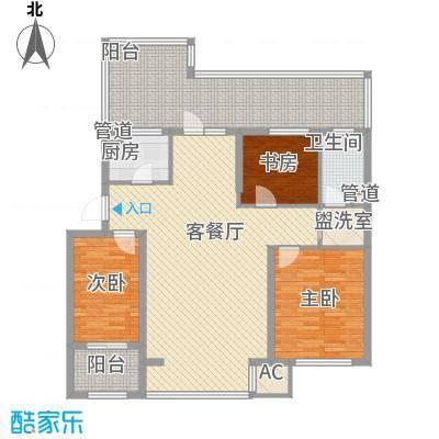 飞悦经典108.78㎡C3'户型(顶层)户型3室2厅1卫