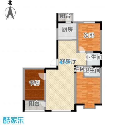 剑桥园126.43㎡剑桥园户型图流金岁月L4户型3室2厅2卫户型3室2厅2卫