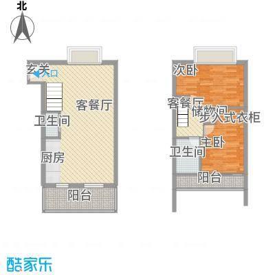 张江汤臣豪园二期92.00㎡张江汤臣豪园二期2室户型2室