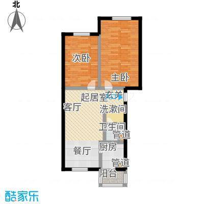 龙城富苑72.75㎡多层户型2室1厅1卫