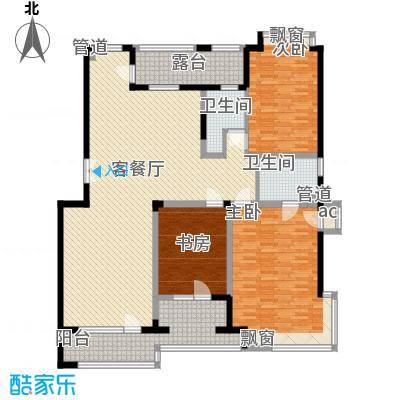 融创上城163.00㎡三期户型图03户型3室2厅1卫1厨