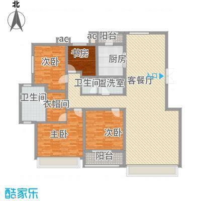 伟峰东第185.00㎡伟峰东第户型图高层G户型图4室2厅2卫户型4室2厅2卫