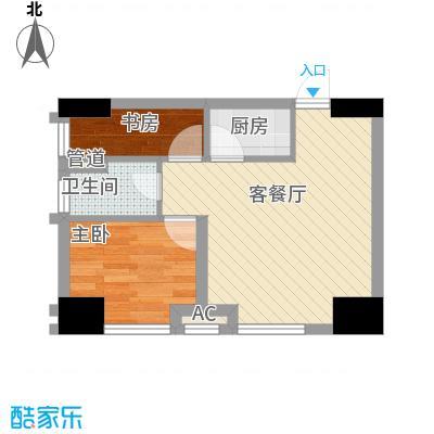 环球贸易中心50.00㎡环球贸易中心户型图公寓E1室1厅1卫1厨户型1室1厅1卫1厨