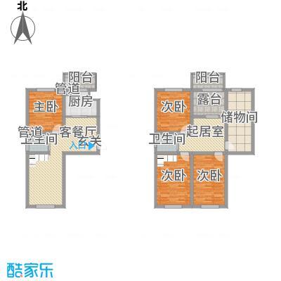 澜山溪谷105.00㎡澜山溪谷户型图F6户型5室3厅2卫1厨户型5室3厅2卫1厨