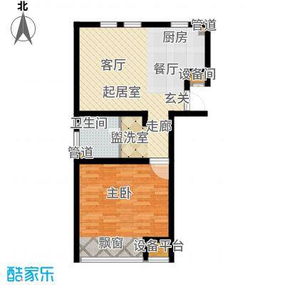 力旺塞歌维亚70.00㎡LOMO精装公寓C户型1室1厅1卫