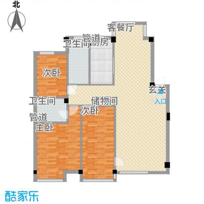 万科上东区138.36㎡万科上东区户型图3室2厅1卫户型10室