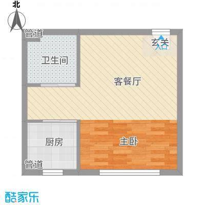檀香湾49.55㎡檀香湾户型图49.55平米刚需高层户型1室1厅1卫1厨户型1室1厅1卫1厨