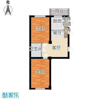 东方之珠龙兴苑92.76㎡四期H户型2室1厅1卫
