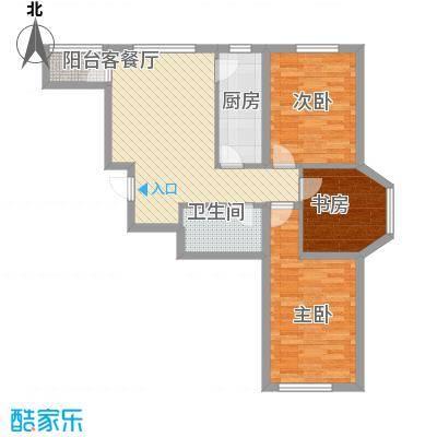 中顺和苑90.00㎡一期D户型3室2厅1卫