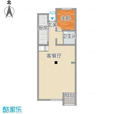 世纪嘉园1室1厅户型1室1厅1卫1厨