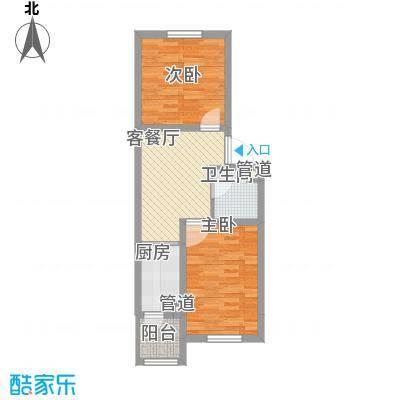 力旺康景63.88㎡力旺康景户型图二期G户型图2室1厅1卫户型2室1厅1卫