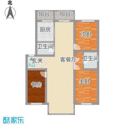 博众新城二期126.00㎡户型图d户型3室2厅2卫