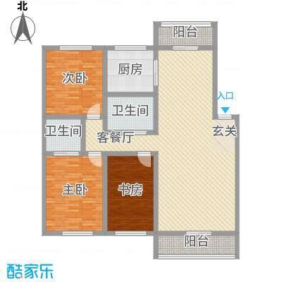 博众新城二期142.00㎡户型图9户型3室2厅2卫