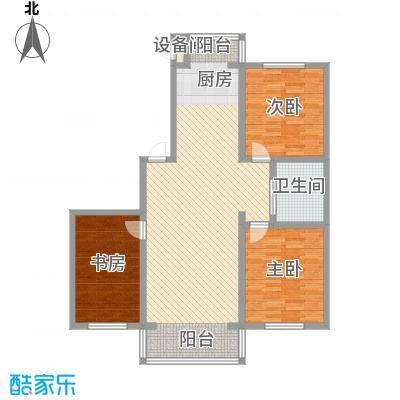 兴顺花园115.44㎡兴顺花园户型图二期户型图3室2厅1卫户型3室2厅1卫