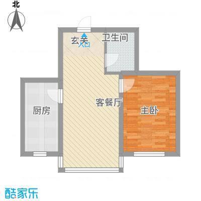 博众新城二期60.00㎡加推户型3户型1室2厅1卫