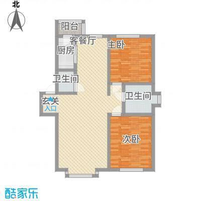 金域蓝湾108.39㎡金域蓝湾户型图2室2厅2卫户型10室