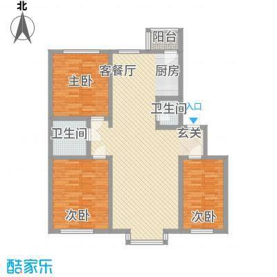 金域蓝湾120.95㎡金域蓝湾户型图3室2厅2卫户型10室