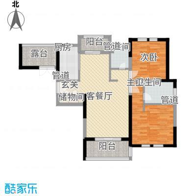 古北御庭106.00㎡古北御庭户型图D3户型2室2厅2卫1厨户型2室2厅2卫1厨