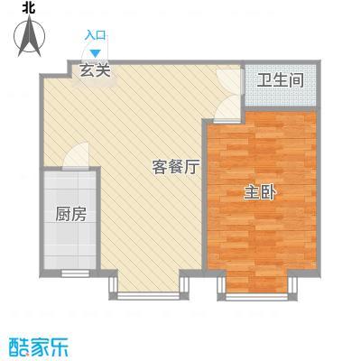 嘉和丽景63.00㎡F户型1室1厅1卫