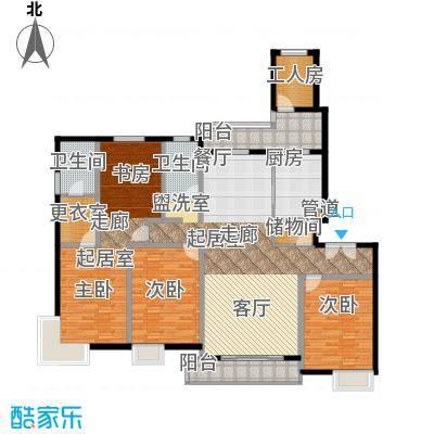 中邦风雅颂188.00㎡上海中邦风雅颂户型10室
