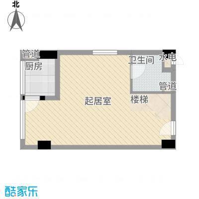 慧晶国际公寓户型1室1厅1卫1厨