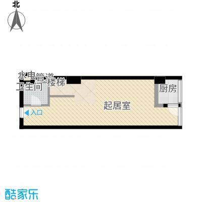 慧晶国际公寓E-1户型10室