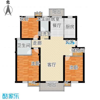 惠南小城127.36㎡A3-2户型3室2厅2卫