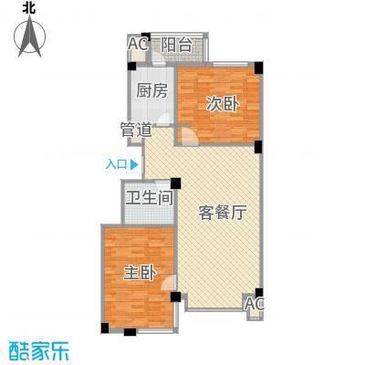 天茂城中央103.19㎡二期C户型2室2厅1卫