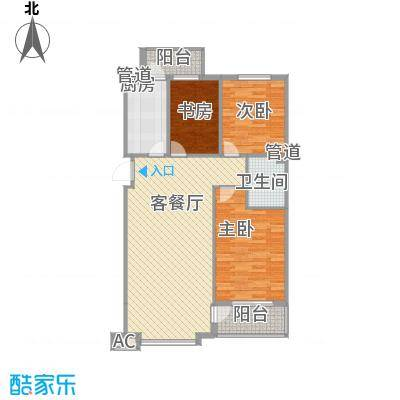 天茂城中央113.01㎡B户型3室2厅1卫
