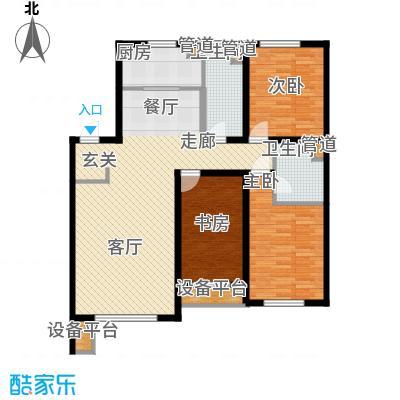 万科城135.00㎡万科城户型图二期户型图3室2厅2卫户型3室2厅2卫