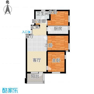 万科城115.00㎡万科城户型图d户型图3室2厅1卫户型3室2厅1卫