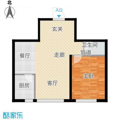 金达莱家园户型图1室1厅1卫