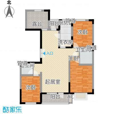 棠棣127.12㎡棠棣户型图Q户型图3室2厅2卫户型3室2厅2卫