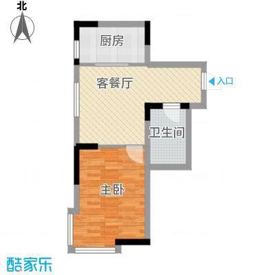 标点56.64㎡标点户型图1室1厅1卫户型10室