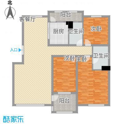 华业玫瑰谷别墅144.00㎡华业玫瑰谷户型图洋房户型图4室2厅2卫户型4室2厅2卫