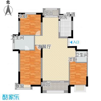 瀚邦凤凰城146.67㎡E户型3室2厅2卫1厨