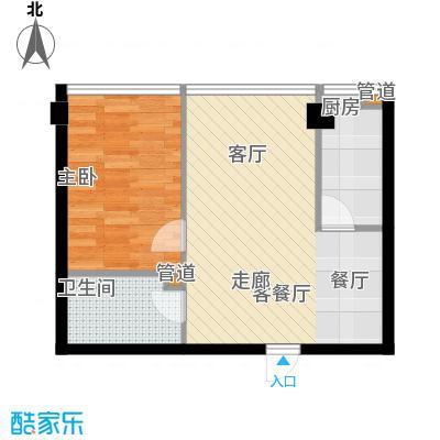 宜家国际公寓62.17㎡宜家国际公寓62.17㎡1室2厅1卫户型1室2厅1卫