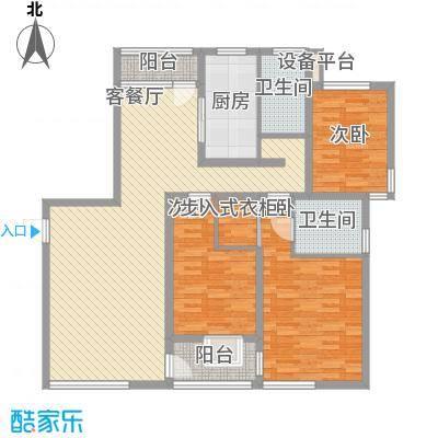 大唐盛世花园144.45㎡大唐盛世花园144.45㎡3室2厅2卫1厨户型3室2厅2卫1厨
