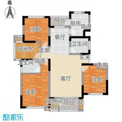 富奥临河湾146.29㎡富奥临河湾户型图高层14室2厅2卫户型4室2厅2卫
