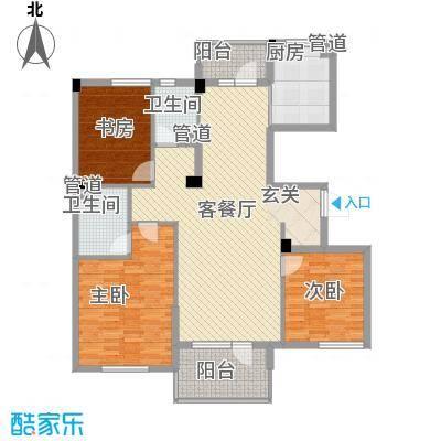 月潭半山洋房143.00㎡月潭半山洋房3室户型3室